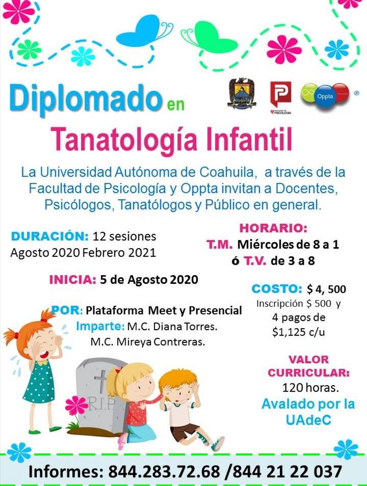 Invita UAdeC a cursar el diplomado en tanatología infantil