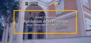 UAdeC obtiene la aprobación de 33 proyectos en la convocatoria FONCYT 2020