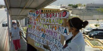 Protesta personal del ISSSTE, exigen insumos de calidad para enfrentar covid
