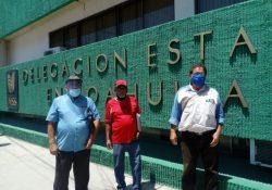 Protestan trabajadores de AHMSA ante el IMSS por negarles pensión
