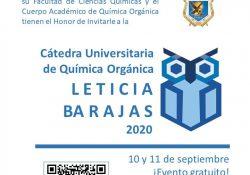 """Invitan a la cátedra universitaria de química orgánica """"Leticia Barajas 2020"""""""