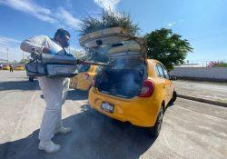 En Torreón sanitizan más de 10 mil taxis y 821 camiones urbanos en agosto