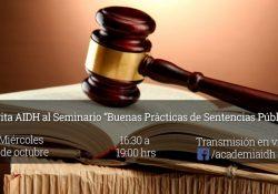 """Invita AIDH al Seminario """"Buenas prácticas de sentencias públicas"""""""