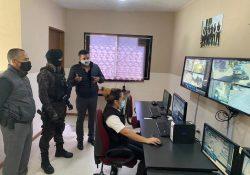Visita centro de monitoreo de la UAdeC el personal del GRS de la Policía Municipal