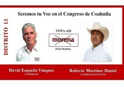 Comete fraude, y hoy es candidato suplente por el distrito 13 en Morena