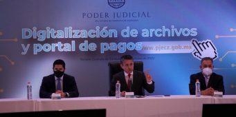 Poder Judicial presenta sistema de digitalización de archivos y portal de pagos