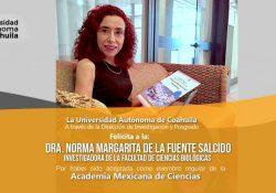 Ingresa investigadora de la UAdeC a la Academia Mexicana de Ciencias
