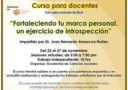 """Invita Coordinación de Unidad Saltillo al curso para docentes """"Fortaleciendo tu Marca Personal"""""""