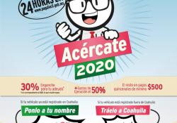 ¡Acércate! y aprovecha los descuentos en control vehicular que ofrece Coahuila