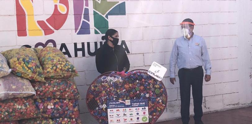 Continúa DIF Coahuila campaña permanente de recolección de taparroscas para salvar vidas