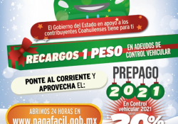 En diciembre aprovecha los descuentos en derechos de control vehicular que ofrece Coahuila
