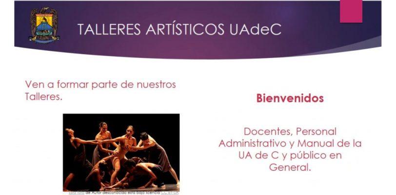 Inician este miércoles 13 de enero las inscripciones de los talleres en línea de la UAdeC