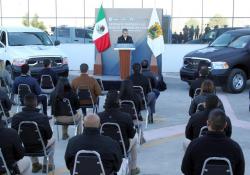 Miguel Riquelme entrega 30 unidades a las fuerzas de seguridad estatales: invierten 22 mdp