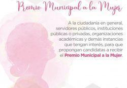 Da a conocer Cabildo ganadora del premio municipal de la mujer