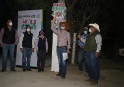Continúa Manolo iluminando los ejidos de Saltillo
