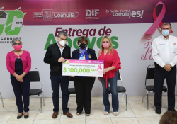 En Coahuila hacemos equipo con Sociedad Civil contra el cáncer: Marcela Gorgón