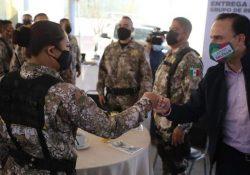 Fortalece Manolo estrategias de seguridad con el GRS