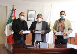 Entrega Secretaría de Salud pruebas rápidas al Instituto Nacional Electoral, Delegación Coahuila