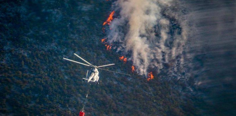 Beneficiarán condiciones climatológicas combate al incendio en la Sierra de Arteaga