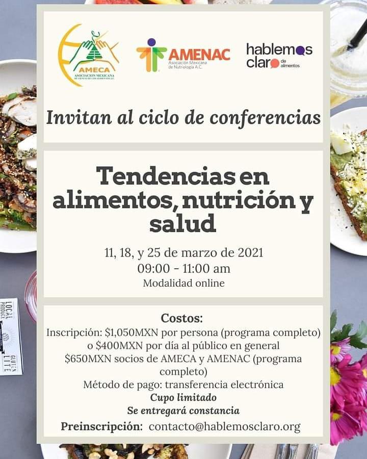 """Dirección de Investigación y Posgrado de la UAdeC invita al ciclo de conferencias """"Tendencias en alimentos, nutrición y salud"""""""