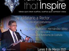 """Comparte Rector de la UAdeC su experiencia de vida en el ICH con la charla """"De ejidatario a Rector"""""""
