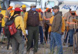 Continúan autoridades actividades contra el incendio en Zapalinamé
