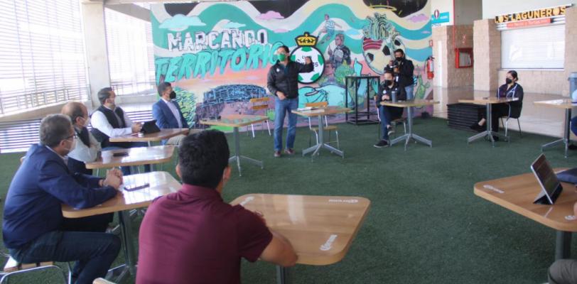 Cumple Estadio Corona con protocolos sanitario ante reapertura para aficionados