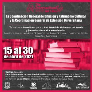 Invita UAdeC a participar en las actividades programadas para conmemorar el Día Internacional del Libro