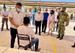 Realizan simulacro para aplicación de vacunas Covid a Docentes en Coahuila