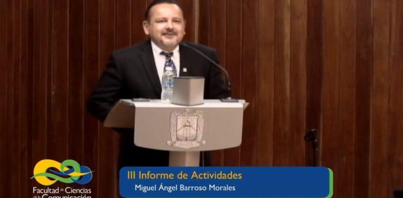 Presenta director de la FCC tercer informe de actividades