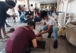 Capacitan a los alumnos de la Facultad de Arquitectura UAdeC sobre el uso de tierras en los procesos de restauración arquitectónica