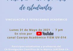 Invita Escuela Superior de música a la presentación de Ensambles de Estudiantes