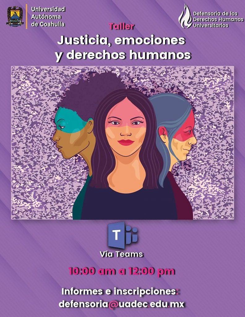 """Participa en la UAdeC en el taller """"Justicia, Emociones y Derechos Humanos"""""""