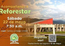Participa en la reforestación que organiza la Facultad de Mercadotecnia de la UAdeC en Ciudad Universitaria Campus Arteaga