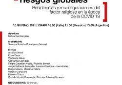 """Participará investigador de la FCC en el webinar """"Religiones y Riesgos Globales"""" de la Universidad de Florencia"""