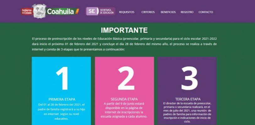 Pide educación Coahuila confirmar inscripción para asegurar lugar en escuela asignada