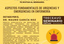 """Aprende en el treceavo Seminario Virtual """"Aspectos Fundamentales de Urgencias y Emergencias en Enfermería"""""""