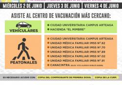 Colabora Salud Coahuila en módulos de aplicación de vacunas para adultos mayores