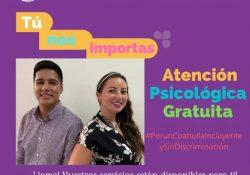 Coahuila brinda atención psicológica gratuita