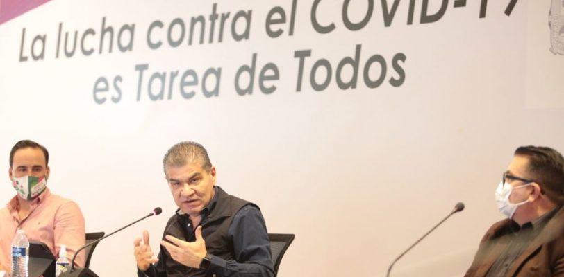 Coahuila marcha bien en el control de la pandemia: MARS