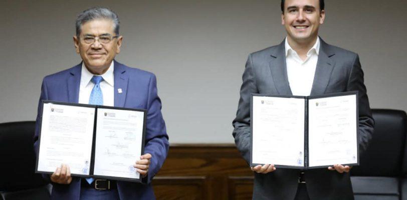Firma Convenio Ambiental UAdeC con Municipio de Saltillo