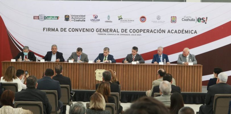 Firma UAdeC convenio de cooperación académica con UNILAM