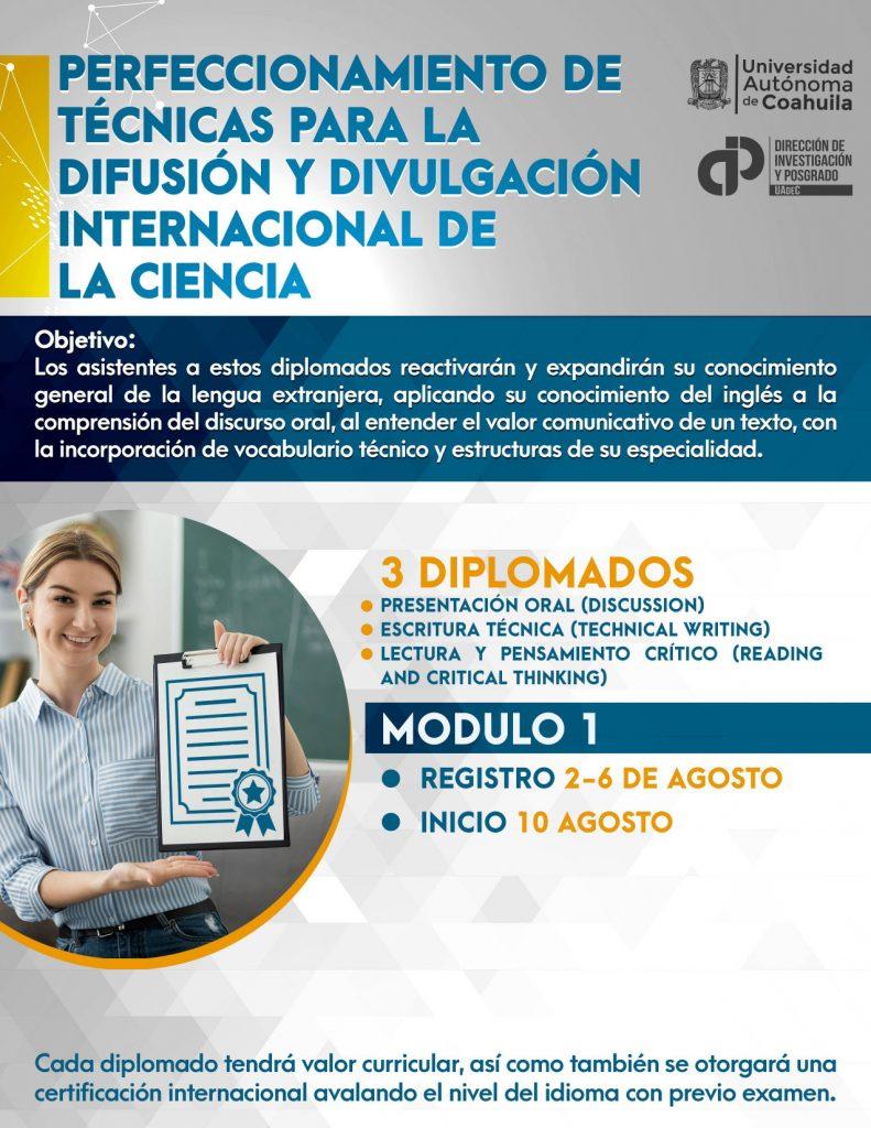 Ofrece UAdeC diplomados para difusión y divulgación internacional de la ciencia