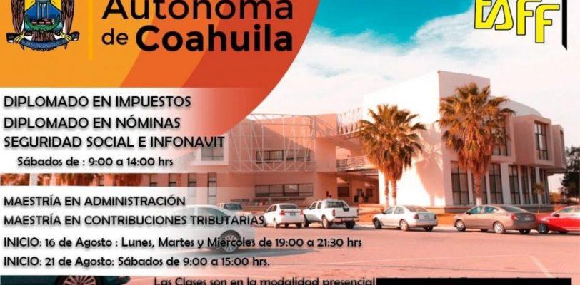 Cursa las Maestrías en Contribuciones Tributarias y de Administración en UAdeC Unidad Torreón