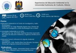 Compartirá UAdeC sus experiencias de educación ambiental en un conversatorio Virtual