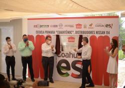 Inaugura MARS escuelas de fundación NISSAN en Cuatro Ciénegas y Nadadores