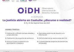 Arranca mañana Observatorio Internacional de Derechos Humanos 2021