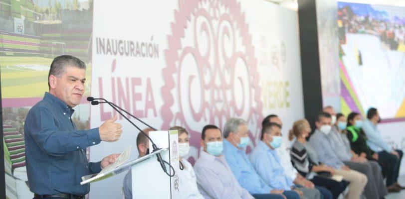 """Invierten estado y municipio 75mdp en la """"Línea Verde"""" de Saltillo"""