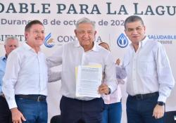 """Apoyo total para """"Agua Saludable para La Laguna"""": AMLO, MARS Y JRAT"""
